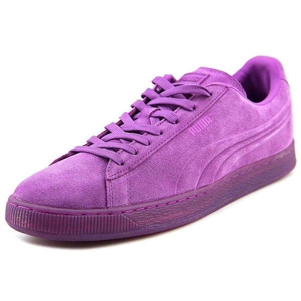 Puma Suede Iced Fluo Men Round Toe Suede Purple Sneakers