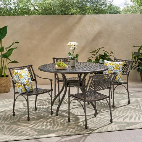 Ridgecrest Outdoor Aluminum 5-piece Dining Set by Christopher Knight Home