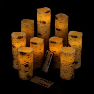 Flameless Candles Battery Operated Candles Birch Effect