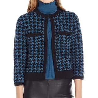 Anne Klein NEW Blue Womens Size Medium M Houndstooth Cardigan Sweater|https://ak1.ostkcdn.com/images/products/is/images/direct/6c9ada1e1cd2214ed8a3491d95147a0cb48be2d9/Anne-Klein-NEW-Blue-Womens-Size-Medium-M-Houndstooth-Cardigan-Sweater.jpg?impolicy=medium