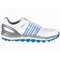Adidas Men's Pure 360 Gripmore Sport White/Silver Metallic/Bahia Blue Golf Shoes Q46740
