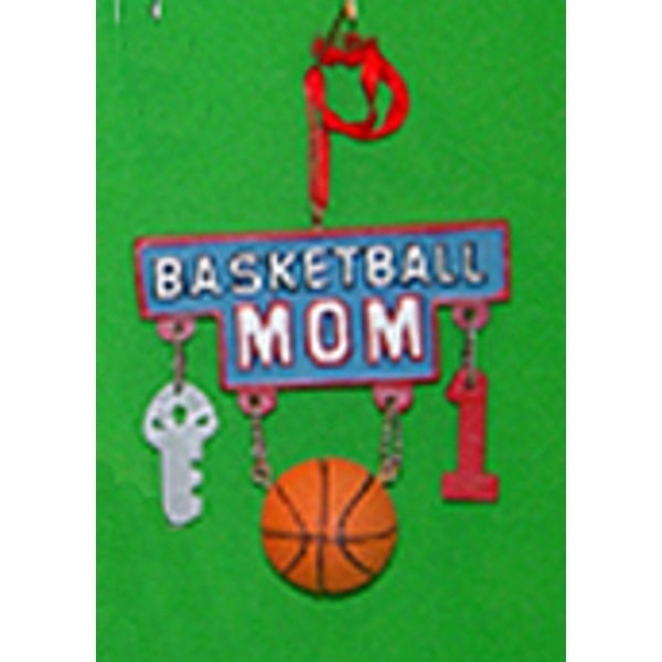 Basketball Mom Charms Sport Dangle Christmas Ornament