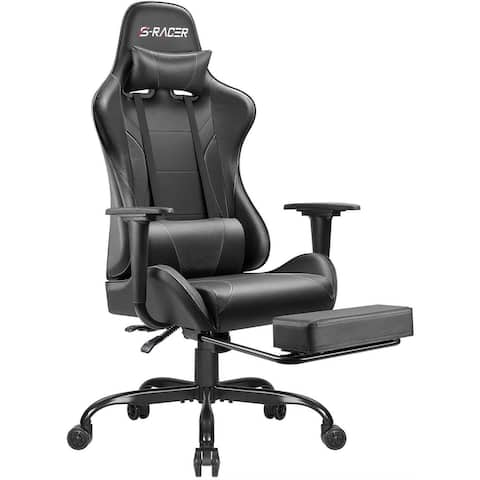 Gaming Chair Computer Office Chair Ergonomic Desk Chair with Footrest Racing Executive Swivel Chair Adjustable Rolling