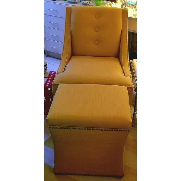 Shop Skyline Furniture Linen French Yellow Nail Button Storage Ottoman    Free Shipping Today   Overstock.com   10676436