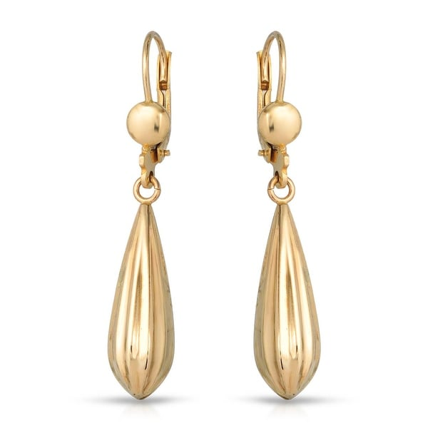Mcs Jewelry Inc 10 KARAT YELLOW GOLD DANGLING EARRINGS WITH DESIGN 41MM