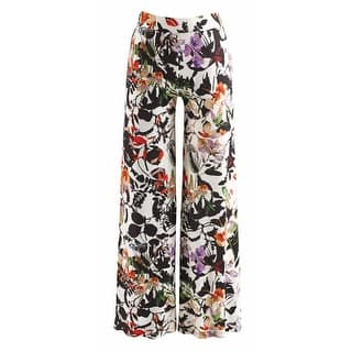 Women's Broken Flower Printed Wide-Leg Palazzo Pants|https://ak1.ostkcdn.com/images/products/is/images/direct/6c9c3b39a1fc187da98fdab6a5a4f877f5d99e05/Women%27s-Broken-Flower-Printed-Wide-Leg-Palazzo-Pants.jpg?impolicy=medium