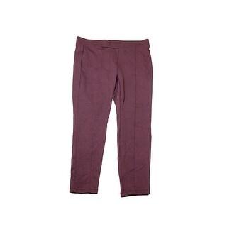 Style & Co Plus Size Dried Plum Seamed Leggings 22W