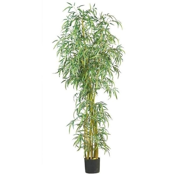 Nearly Natural 5194 7 Fancy Style Slim Bamboo Silk Tree- Green