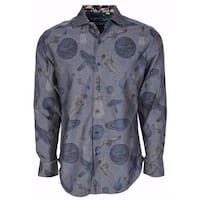 Robert Graham Classic Fit Blue Planets Very Limited Edition Sport Shirt 3XL