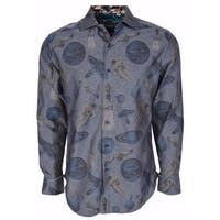 Robert Graham Classic Fit Blue Planets Very Limited Edition Sport Shirt L
