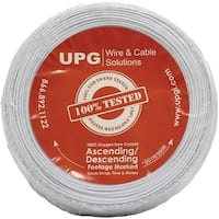 Upg 77021 22-Gauge, 2-Conductor Alarm White Cable, 500Ft Coil Pack (Solid)