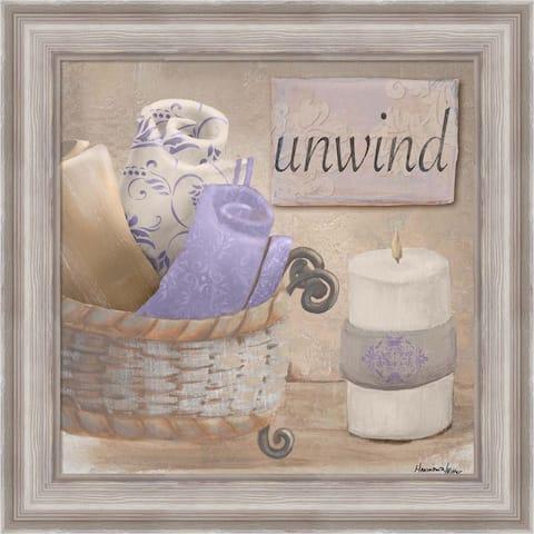 Hakimipour - Ritter 'Lavender Bath I' Framed Art