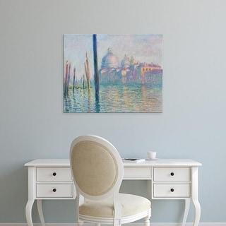 Easy Art Prints Claude Monet's 'The Grand Canal' Premium Canvas Art