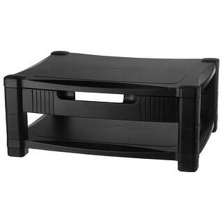 Kantek Inc. - Adjustable Monitor Stnd 2 Level W/Drawer