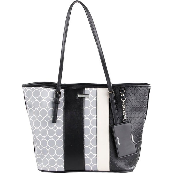 Nine West Womens Ava Tote Handbag Faux Leather Shopper - Large