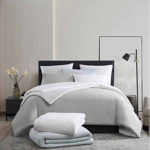 Vera Wang Waffle Pique Cotton Comforter Set. Opens flyout.