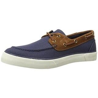 Polo Ralph Lauren Mens Rylander Boat Shoes Canvas Slip On