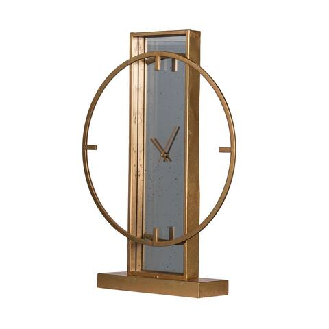 Modern Chic Gold Table Clock