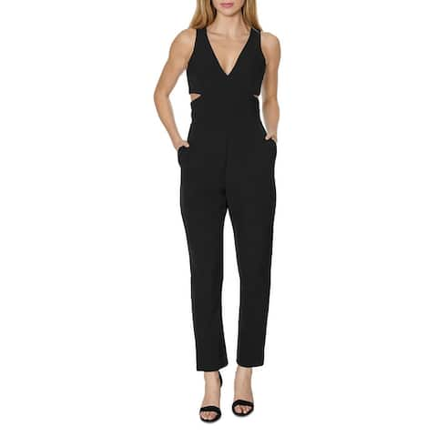Laundry by Shelli Segal Womens Jumpsuit Cut-Out Sleeveless - Black