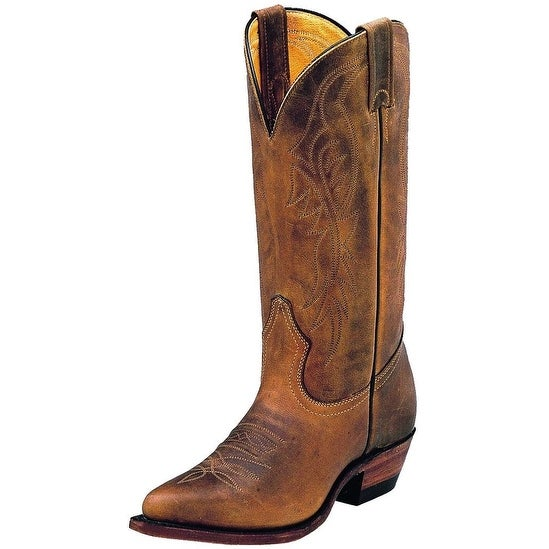 Boulet Western Boots Womens Cowboy Leather Hill Billy Golden