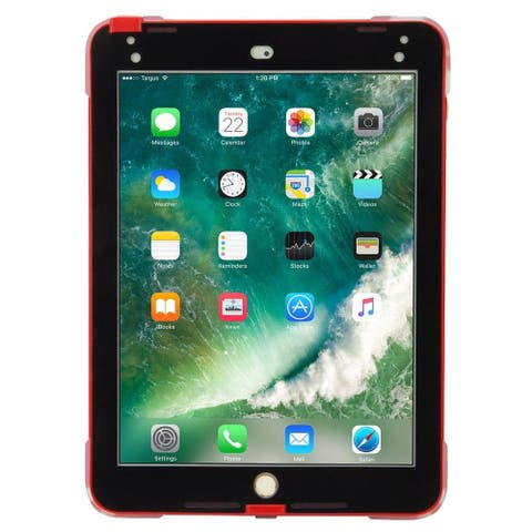 Targus SafePort Rugged Case for iPad (2017/2018), 9.7-inch iPad Pro, and iPad Air 2 (Red)