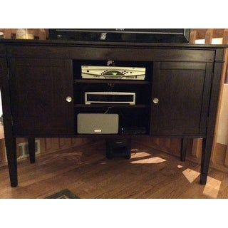 shop wyndenhall sterling tall tv stand for up to 60 inch tv 39 s on sale free shipping today. Black Bedroom Furniture Sets. Home Design Ideas