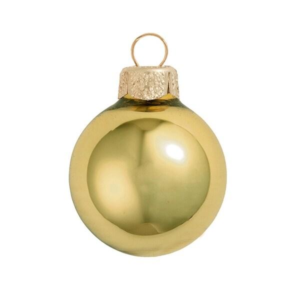 "28ct Shiny Yellow Sun Glass Ball Christmas Ornaments 2"" (50mm)"