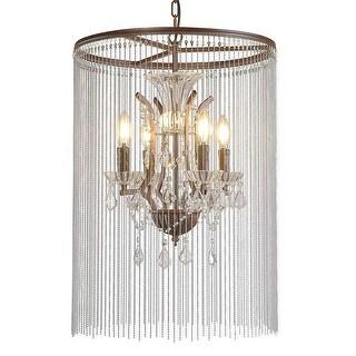 4 light beads nobel metal chandelier