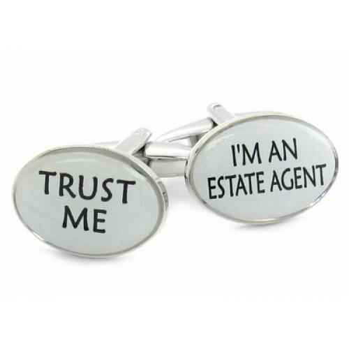 Trust Me Real Estate Career Realtor Cufflinks