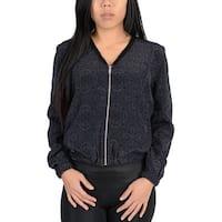 Adidas Womens Ornamental Print Blouson Jacket Black