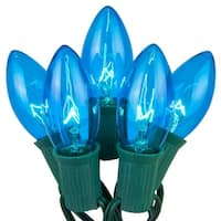 Wintergreen Lighting 67249 25 C9 7W Holiday Bulbs on Green Wire