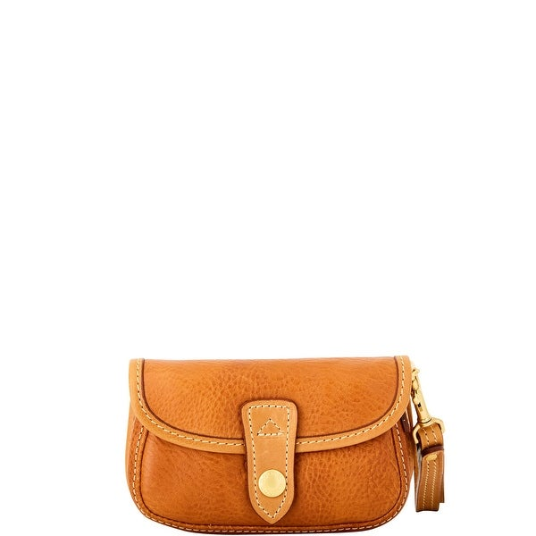 Dooney & Bourke Florentine Flap Wristlet (Introduced by Dooney & Bourke at $98 in Jan 2016) - Natural