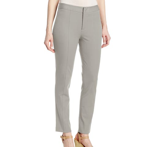NYDJ Gray Boulder Womens Size 0 Slim Stretch Seamed Ankle Leg Pants