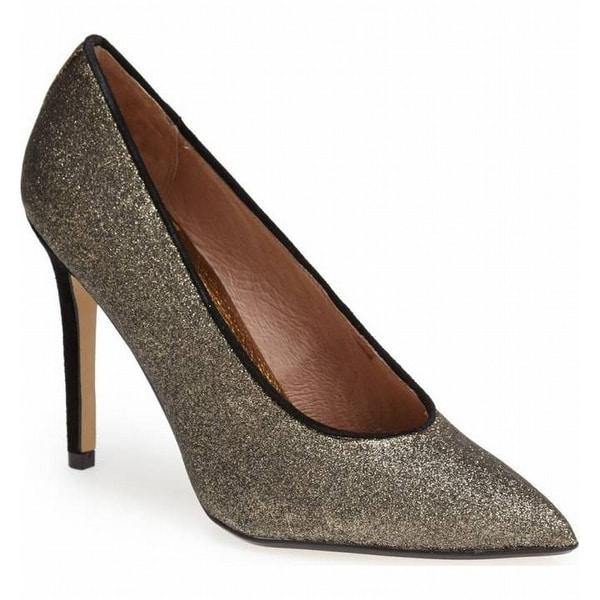 Nina NEW Gold Women's Shoes Size 7.5M REfine Suede Glitter Pump