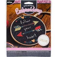 """Arrows Stamped Embroidery Kit-6"""" Round"""