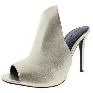 Kendall + Kylie Womens Kessie Mules Leather Peep Toe - 6.5 medium (b,m)