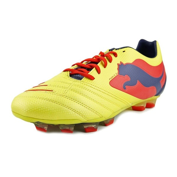 Puma Powercat 2 Graphic Fg Men Blzn Yllw-mdvl Blu-flm Scrlt Cleats