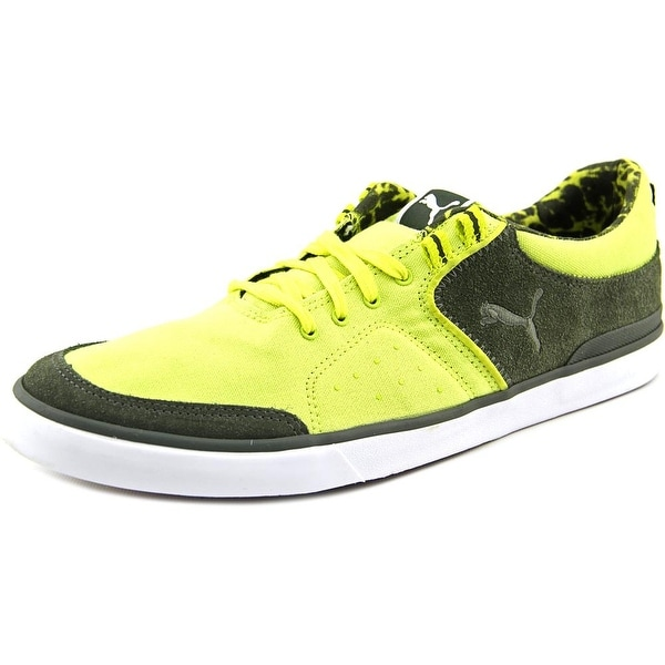 Puma Funiest Slider Vulc Men Round Toe Canvas Yellow Sneakers