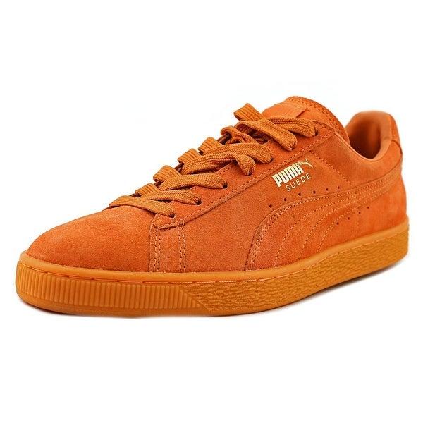 Puma Suede Classic Men Round Toe Leather Orange Sneakers
