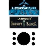 Lightweight Safety Bright Black Reflective Dots - Black - 7 Pieces - LWBB