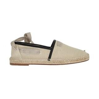 Dolce & Gabbana Dolce & Gabbana Beige Leather Canvas Strap Loafers