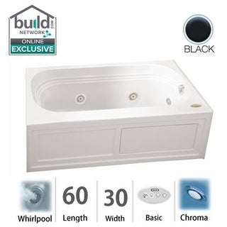 """Jacuzzi LXS6030 WRL 2CH Luxura 60"""" Whirlpool Drop In Bathtub with Right Drain and Chromatherapy Lighting / RapidHeat Technology"""