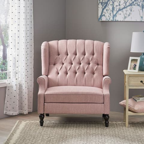 Apaloosa Oversized Tufted Fabric Recliner by Christopher Knight Home