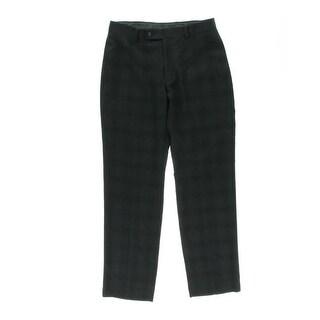 Calvin Klein Mens Slim Fit Plaid Dress Pants - 36/32