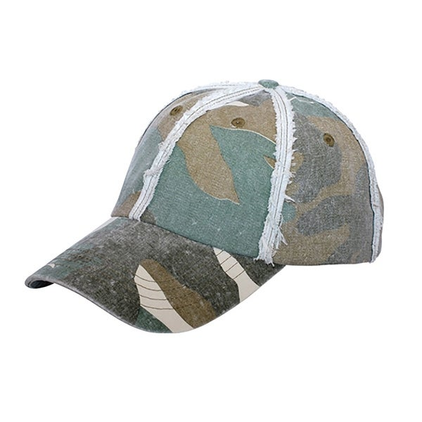 Low Profile Fashion Camo Cap - Olive