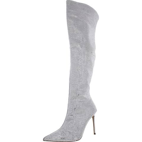 Steve Madden Womens Skyscraper Over-The-Knee Boots Rhinestones Dressy