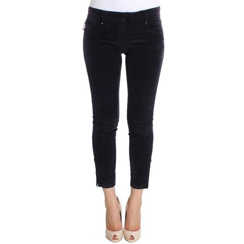 Costume National Purple Cropped Corduroys Women's Jeans - w26