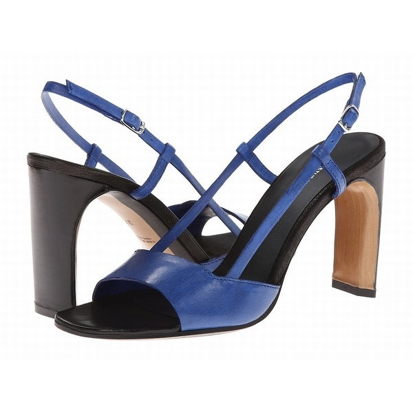 Costume National NEW Blue Shoes Size 9M Strappy Leather Heels
