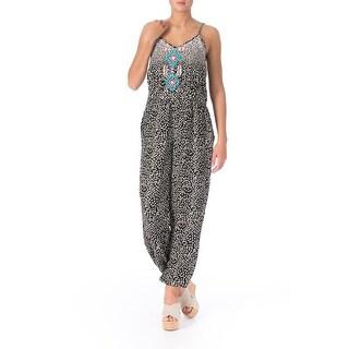 Angie Womens Juniors Knit Printed Jumpsuit - L