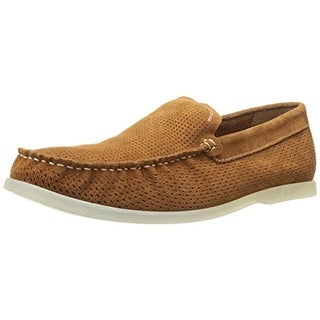 Kenneth Cole Reaction Mens Flat Screen Suede Perforated Loafers